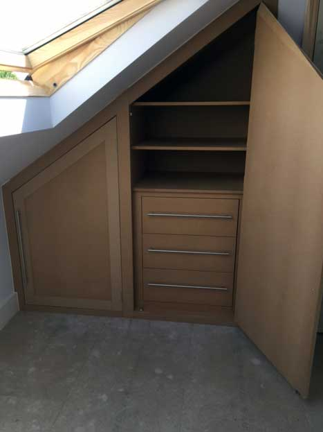 Eaves Draw Shelf Unit