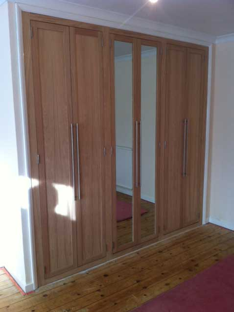 Oak Mirror Wardrobe